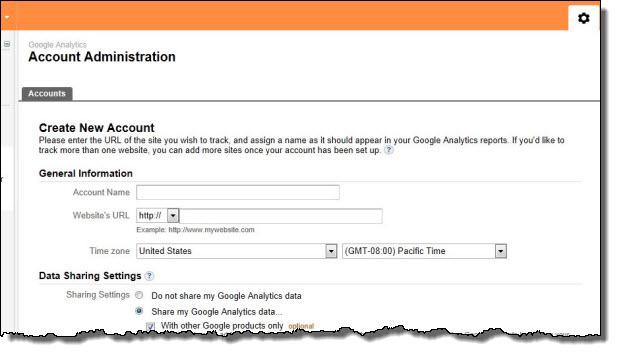 Google Analytics Setting Page
