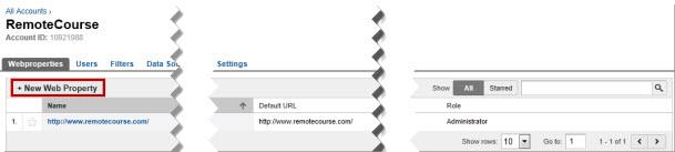 GA Web Property Setup