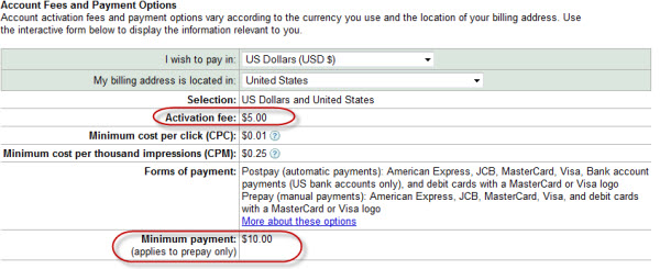 AdWords Payment