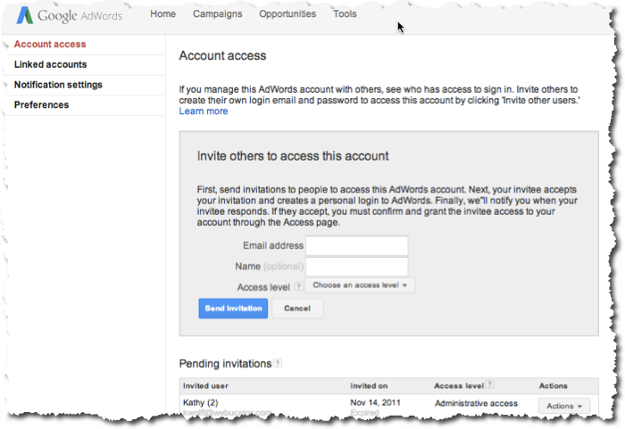 AdWords Access