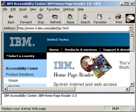 Screenshot of HPR user interface