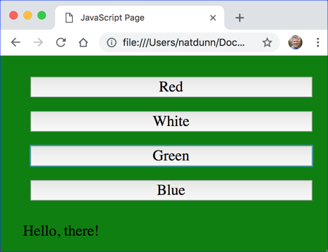JavaScript Turned Green