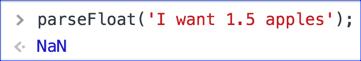 parseFloat - NaN