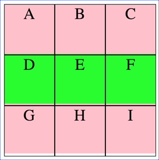 Getting Elements - middle row lime