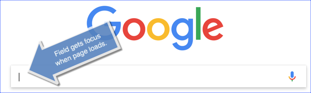 Google focus()