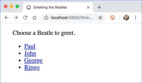 Greeting the Beatles