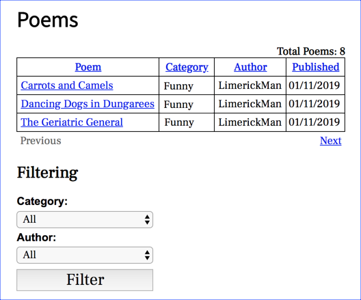 phppoetry.com poems