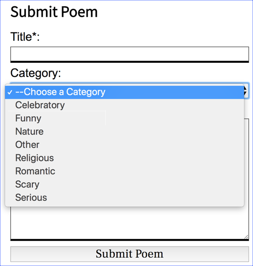 phppoetry.com Submit poem