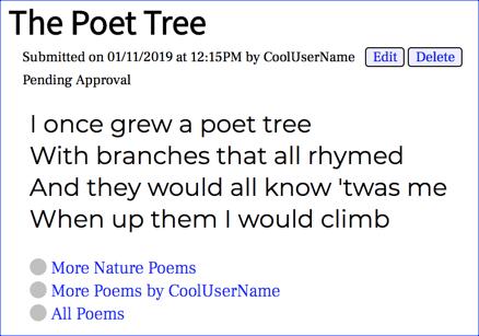 phppoetry.com - The Poet Tree