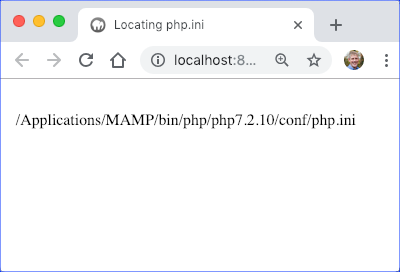 Location of php.ini