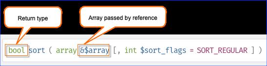 Function Signature: sort()