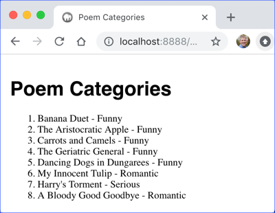 Poem Categories