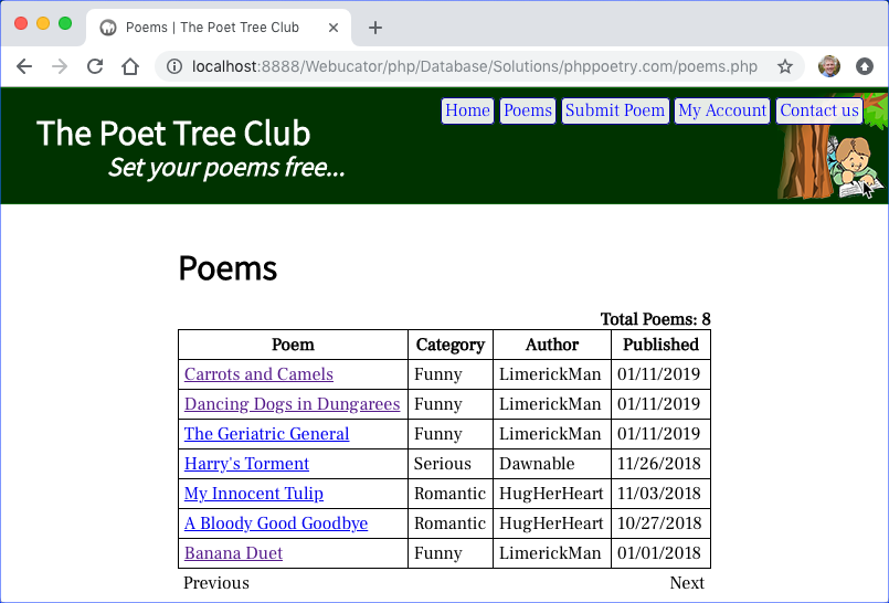 phppoetry.com poems.php
