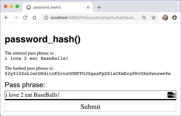 password_hash()