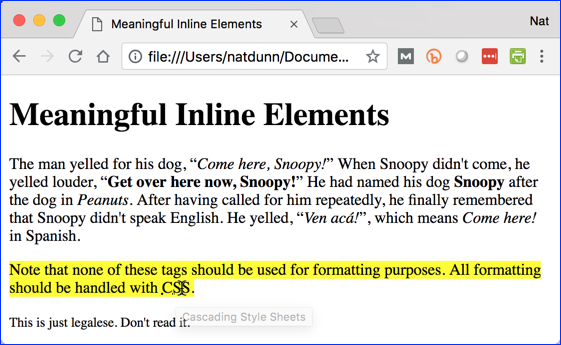 Inline Elements