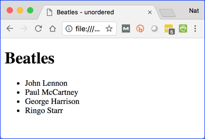 Unordered Lists of Beatles Songs by Singer