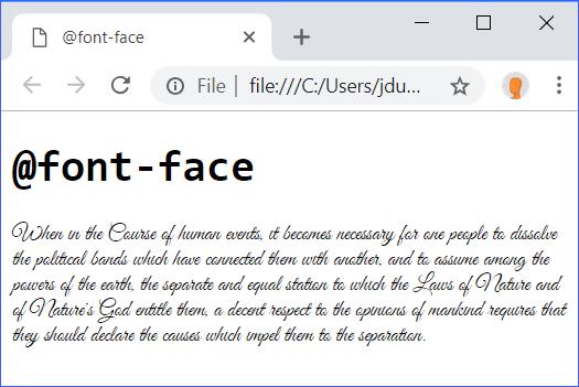 @font-face demo