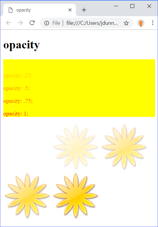 opacity Demo