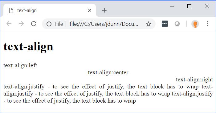 text-align Demo