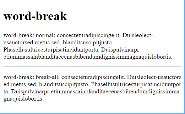word-break Demo