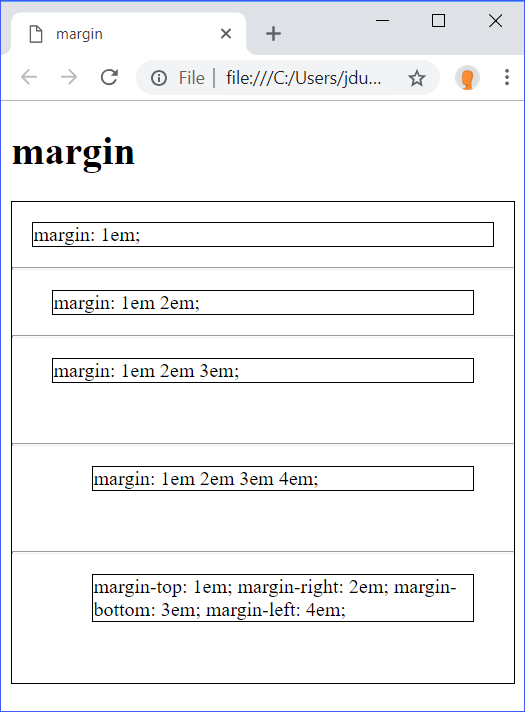 margin Demo