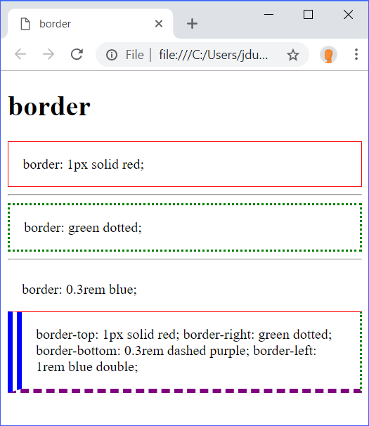 border Demo