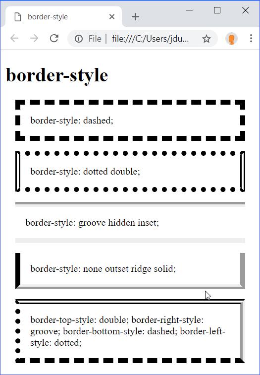 border-style Demo