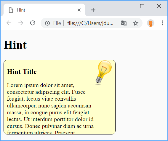 Hint1 Demo