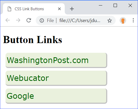 display Link Buttons