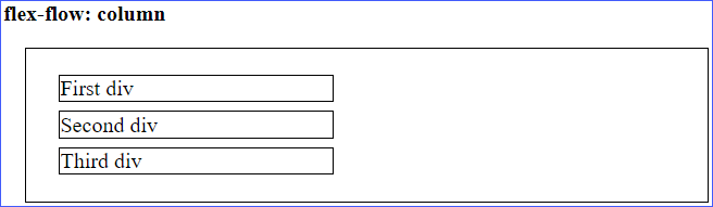 Flexbox column Example