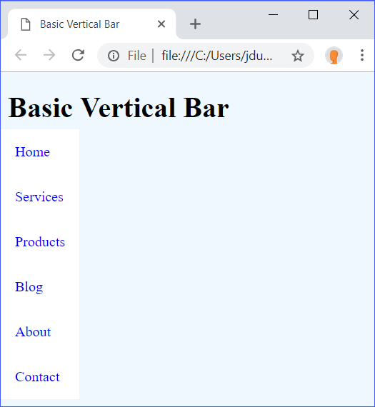 Basic Vertical Bar