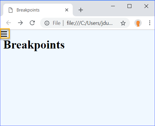 Breakpoints Mobile Menu Icon