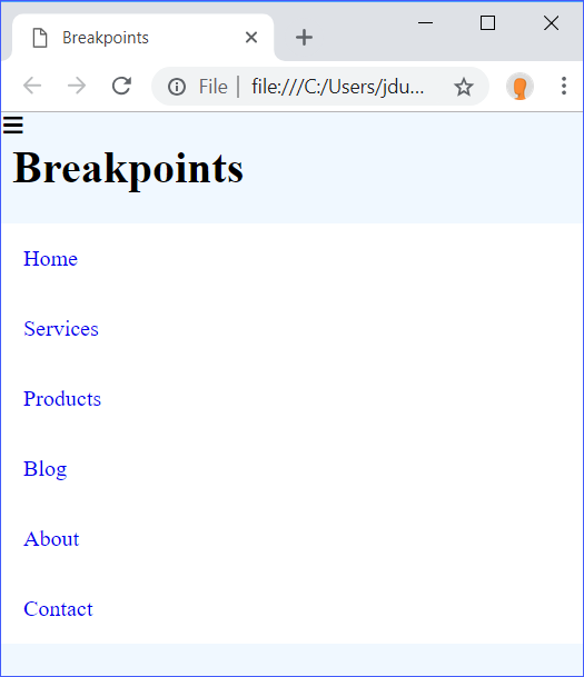Breakpoints Step 3