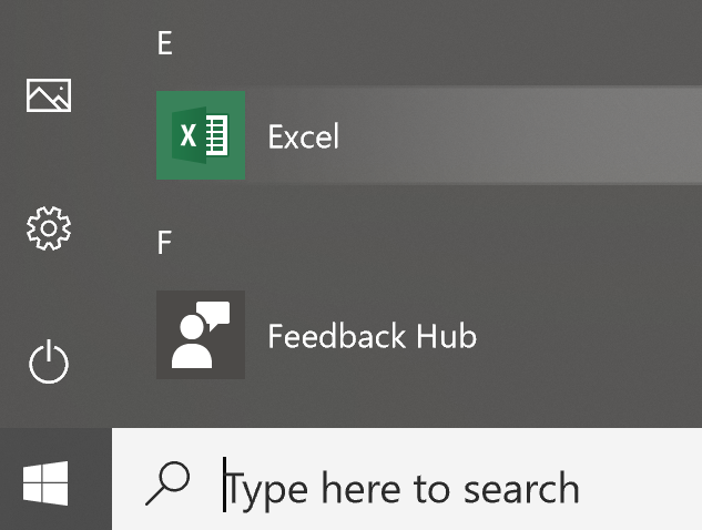 Start Excel