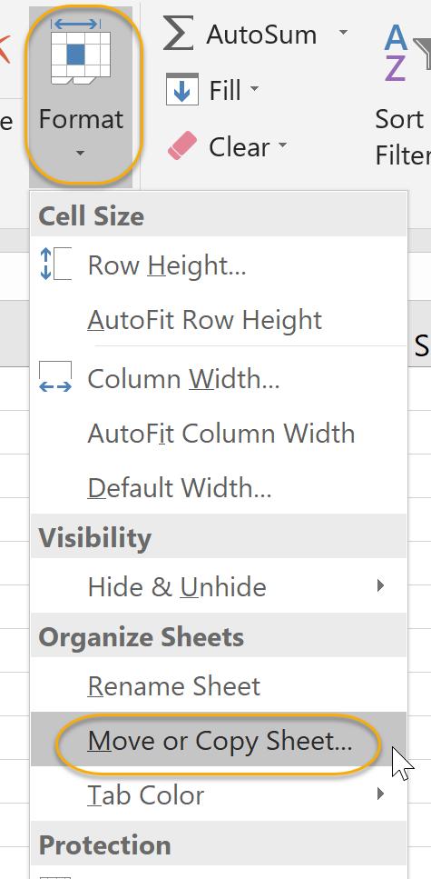 Organize Sheets