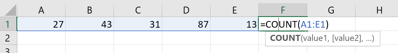 Excel Guesses