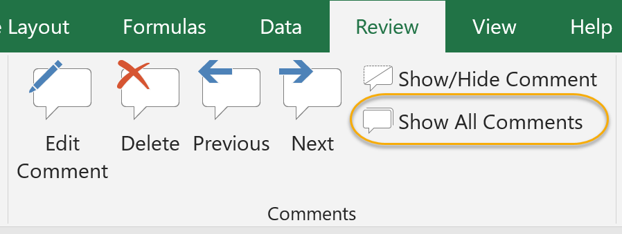 Show All Comments Command