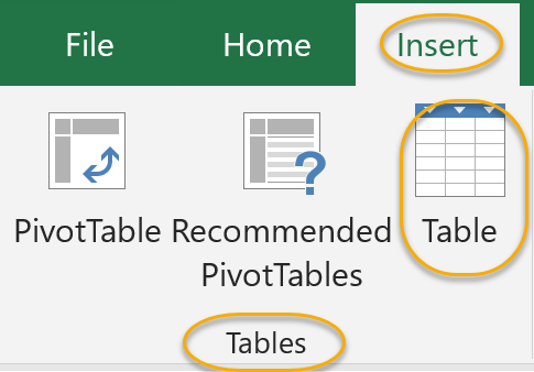 Table Command