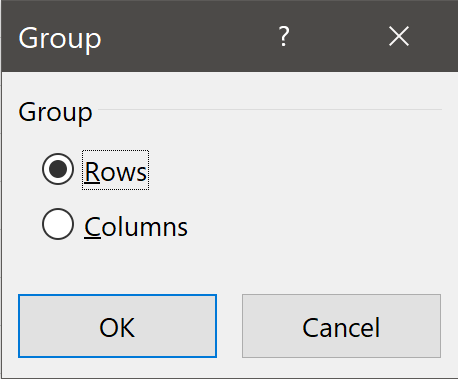 Group Dialog Box