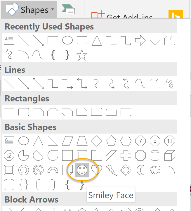 Smiley Face Shape