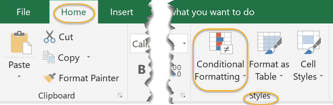 Conditional Formatting Command