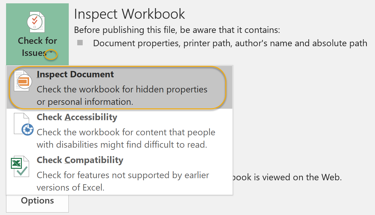 Inspect Document
