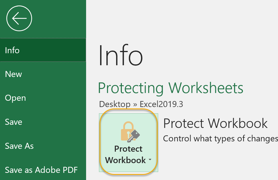 Protect Workbook