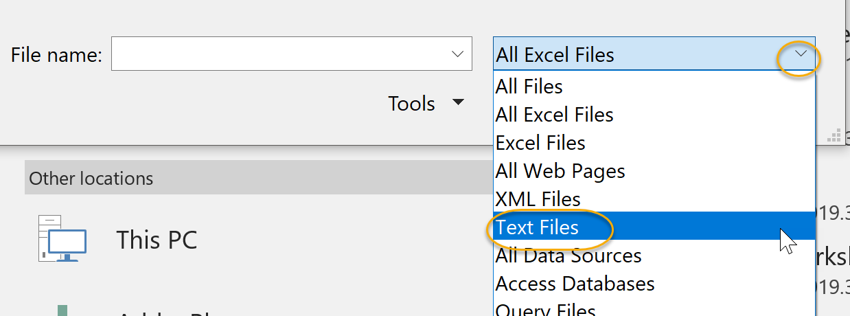Select Text Files