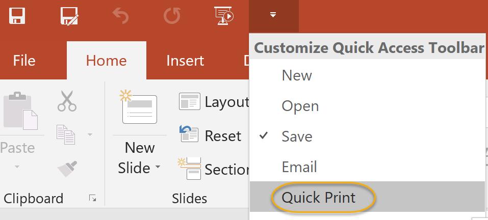 Quick Print Command