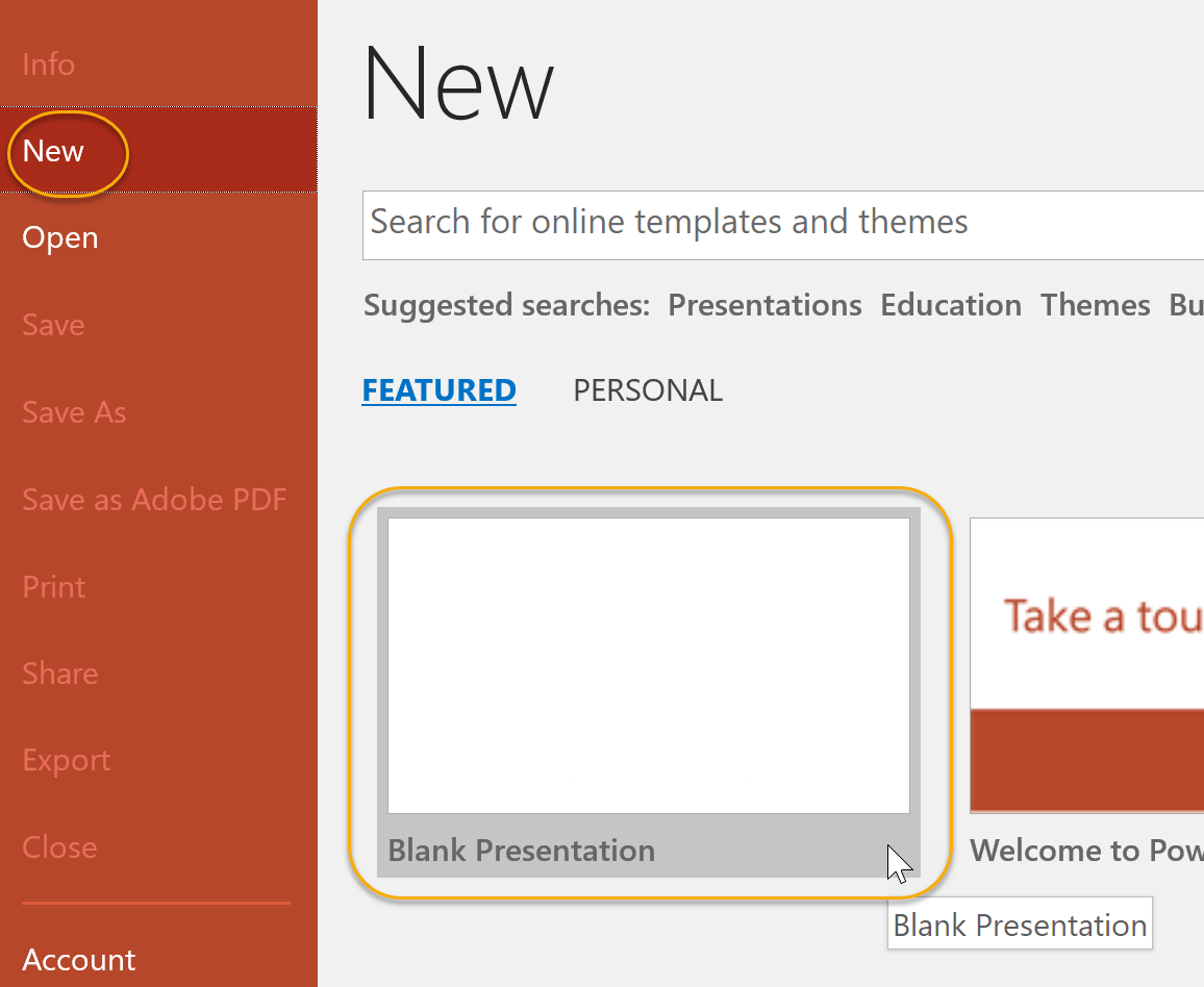 New Blank Presentation