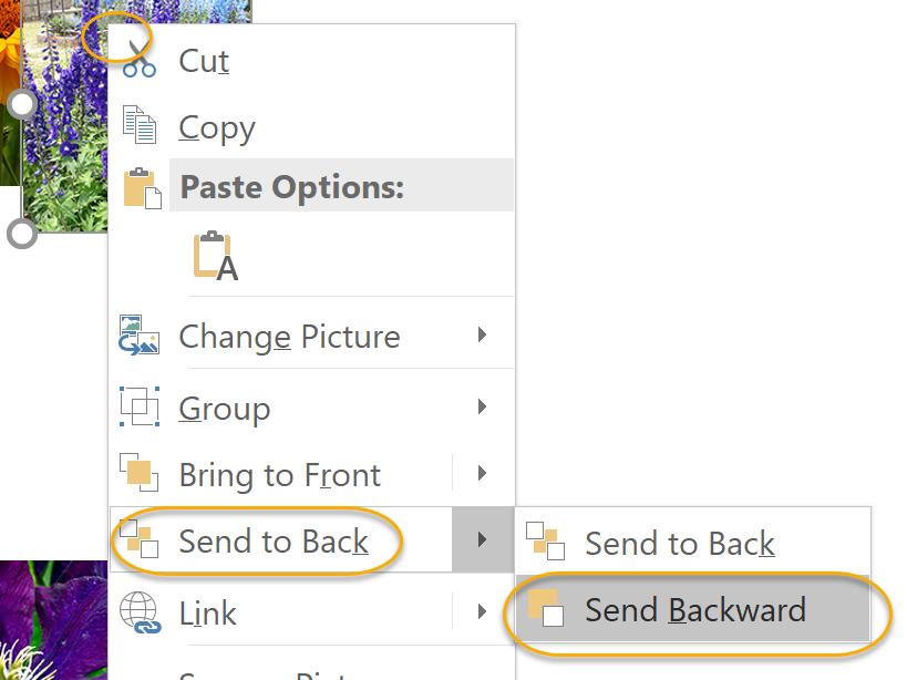 Send Backward