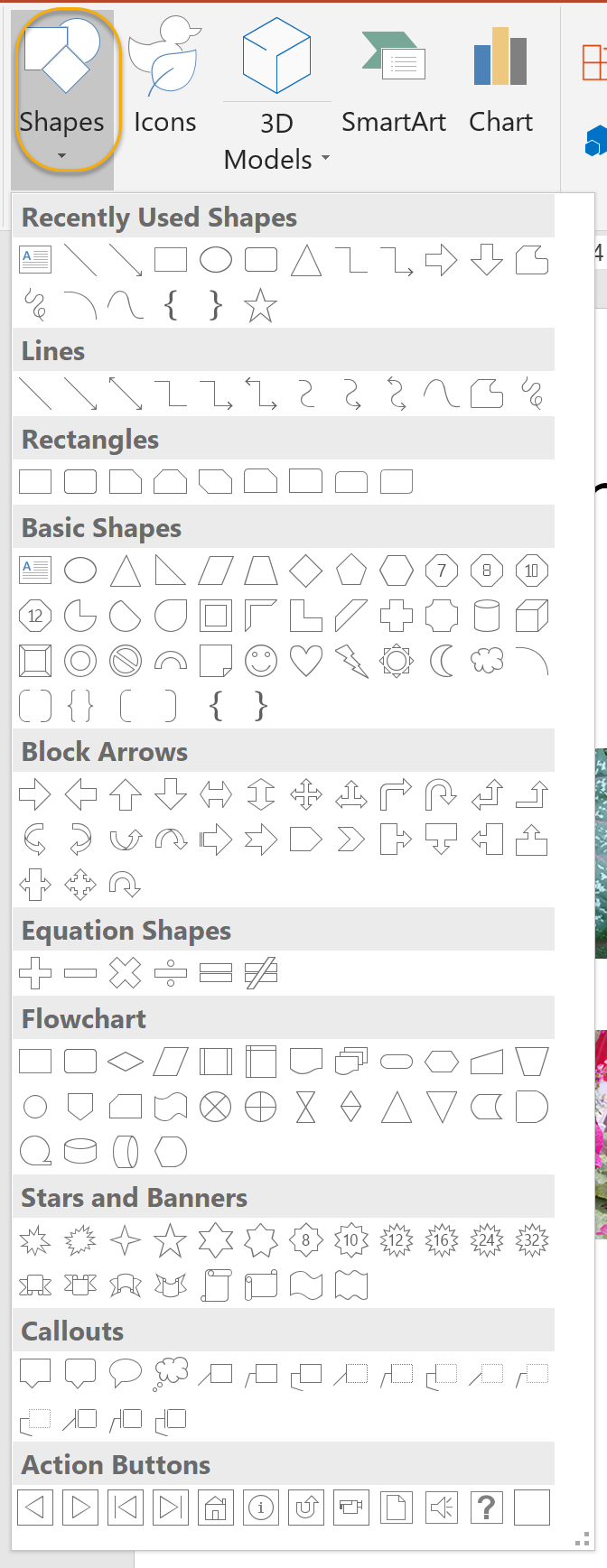 Shapes Command