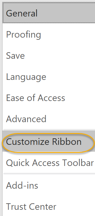 Customize Ribbon