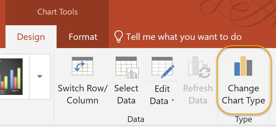 Chart Tools Design Tab